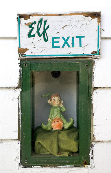 elf exit, Dubuque, Iowa Art Print