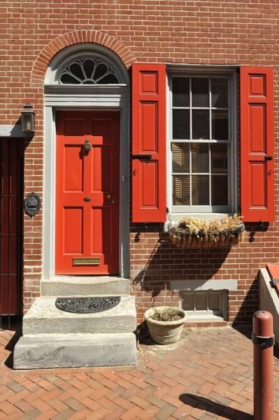 Photograph - Elfreth's Alley Door 2 by Keith Swango