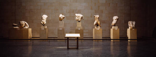 Elgin Photograph - Elgin Marbles Display In A Museum by Panoramic Images