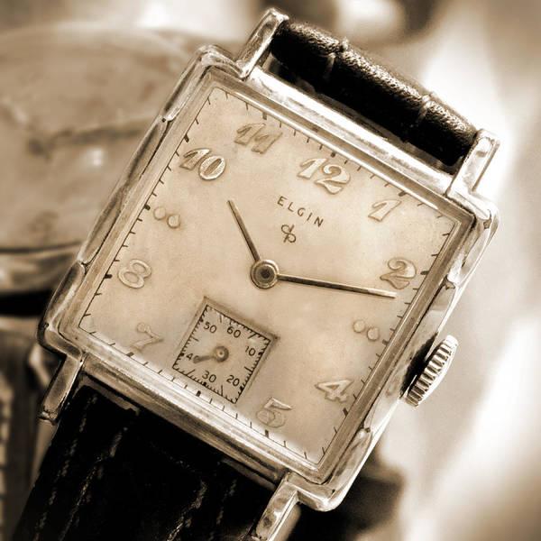 Elgin Photograph - Elgin Watches by Mike McGlothlen
