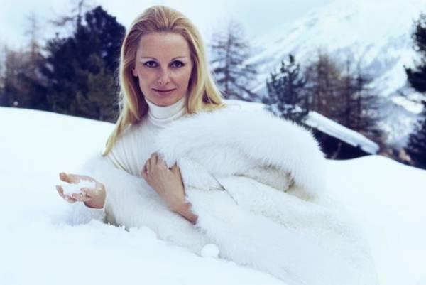 Central Europe Photograph - Eliette Von Karajan Wearing White Fur by Henry Clarke