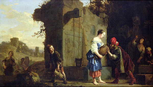 Fetch Photograph - Eliezer And Rebecca At The Well, 1660 Oil On Canvas by Salomon de Bray