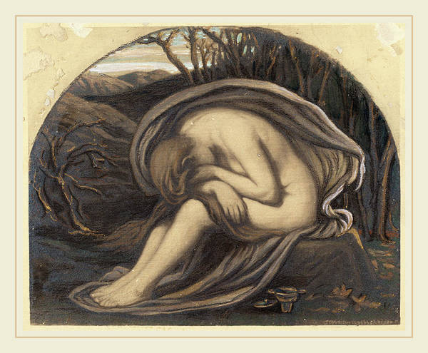 Developed Painting - Elihu Vedder, The Magdalene, American, 1836-1923 by Litz Collection