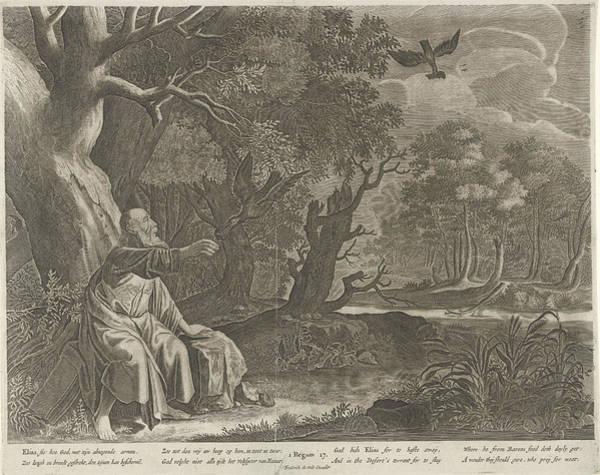 Raven Drawing - Elijah Fed By Ravens, Pieter Nolpe, Anonymous by Pieter Nolpe And Anonymous And Pieter Symonsz. Potter