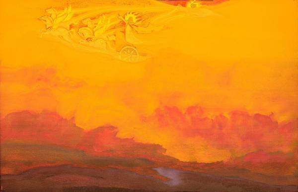 Nk Roerich Painting - Elijah The Prophet by Nicholas Roerich