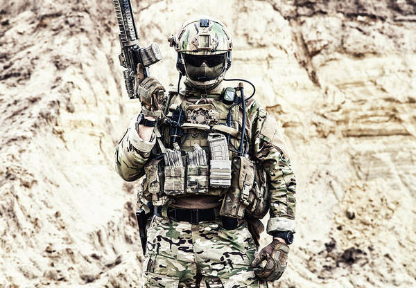 Infantryman Wall Art - Photograph - Elite Fighter Of Special Forces by Oleg Zabielin