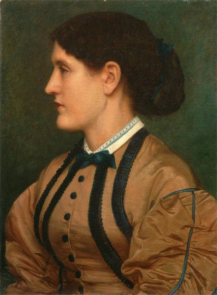 Trimming Painting - Eliza Eastlake Signed And Dated, Green Paint by Litz Collection