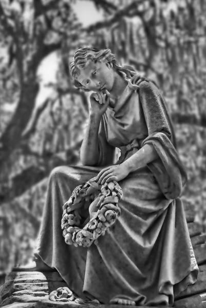 Photograph - Bonaventure Cemetery Eliza Statute  by Ginger Wakem
