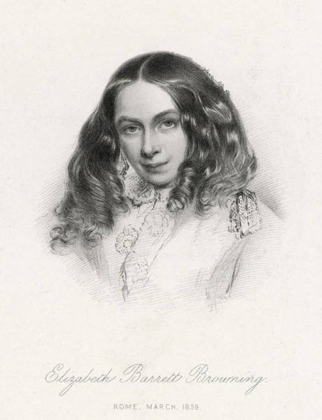 Wall Art - Drawing - Elizabeth Barrett Browning(1806-1861) by Mary Evans Picture Library