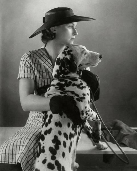 Dog Photograph - Elizabeth Blair With A Dalmatian by Edward Steichen