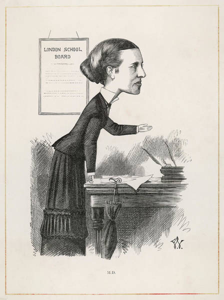 Wall Art - Drawing - Elizabeth Garrett Anderson (1836-1917) by Mary Evans Picture Library