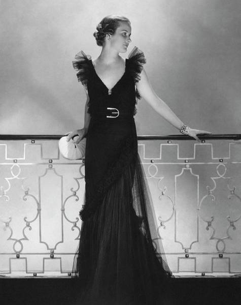 Photograph - Elizabeth Harben Wearing A Lelong Dress by Edward Steichen