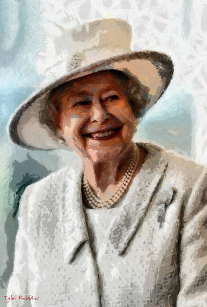 Painting - Elizabeth II The Queen Of England by Tyler Robbins