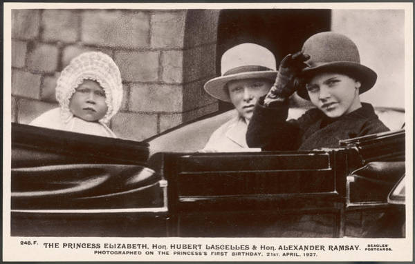 Queens Birthday Photograph - Elizabeth II  With Her Cousins Hubert by Mary Evans Picture Library