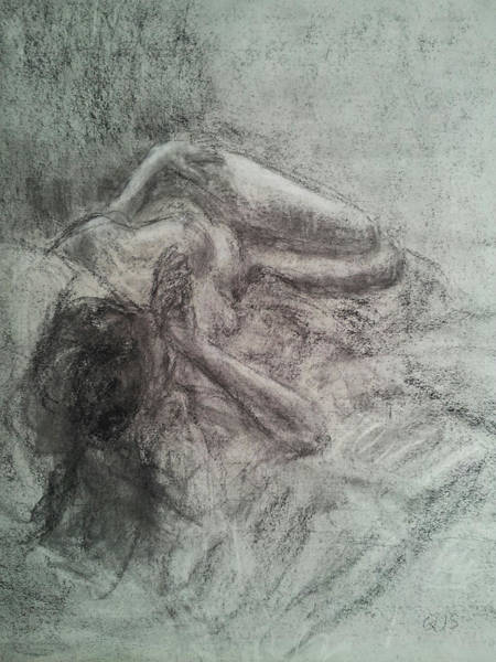 Drawing - Elizabeth In Repose by Quin Sweetman
