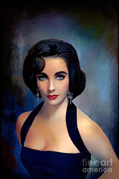 Elizabeth Taylor Painting - Elizabeth Taylor  by Andrzej Szczerski