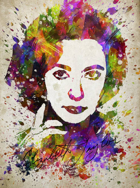 Liz Digital Art - Elizabeth Taylor In Color by Aged Pixel