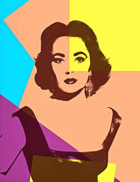 Liz Digital Art - Elizabeth Taylor Pop Art by Dan Sproul