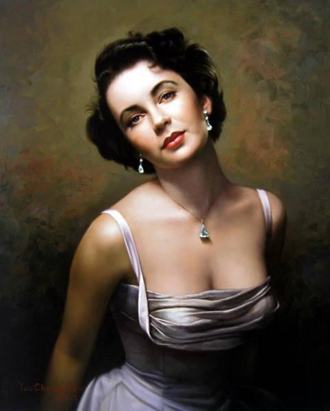Elizabeth Taylor Painting - Elizabeth Taylor by Yoo Choong Yeul