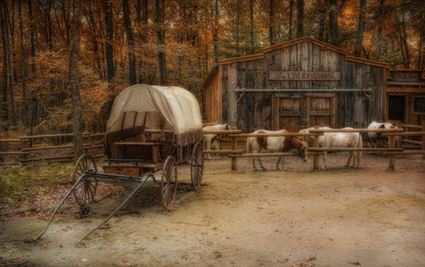 Photograph - Elk Horn Livery Stable by Robin-Lee Vieira
