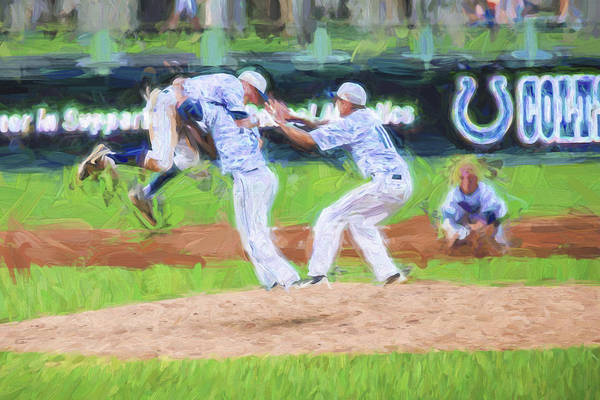 Photograph - Elkhart Central Blazers Celebrate Tanner Tully Pitcher by David Haskett II