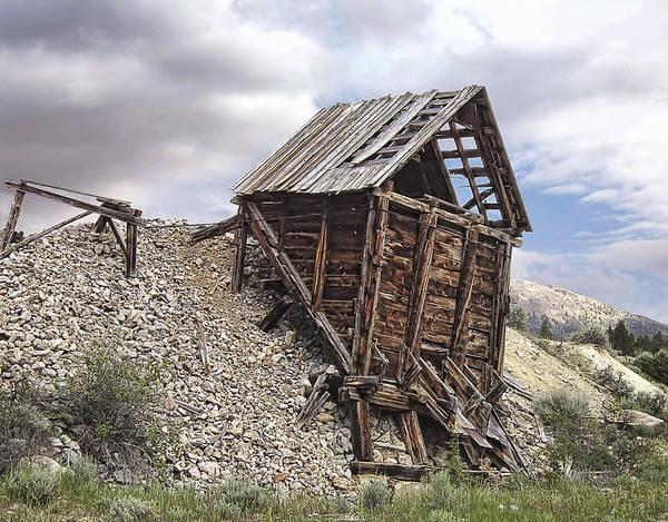 Lead Mine Wall Art - Photograph - Elkhorn Ghost Town Mine Chute Terminus - Montana by Daniel Hagerman