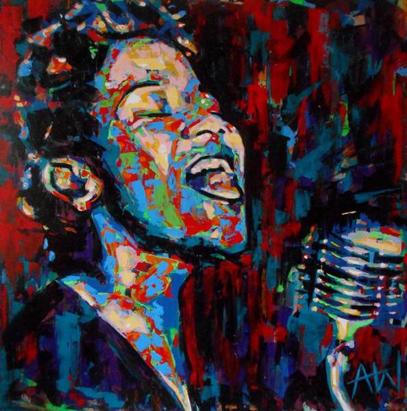 Wall Art - Painting - Ella Fitzgerald by Angie Wright