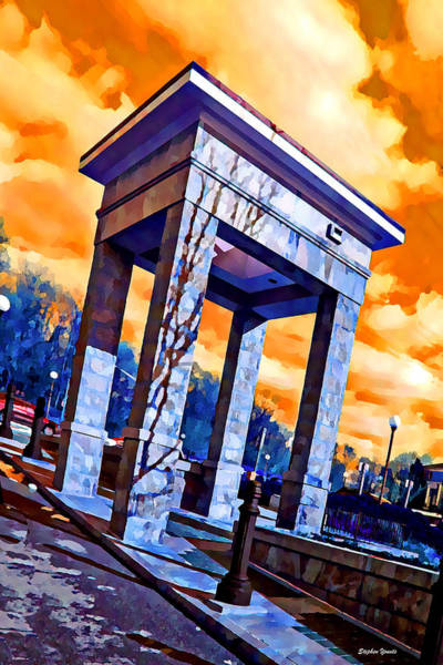 Wall Art - Digital Art - Ellicott City Courthouse Path by Stephen Younts