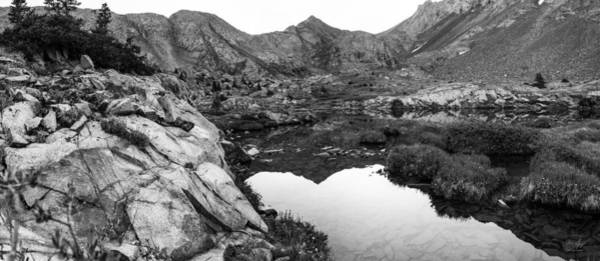 Fourteener Photograph - Ellingwood Point Reflection Black And White by Aaron Spong