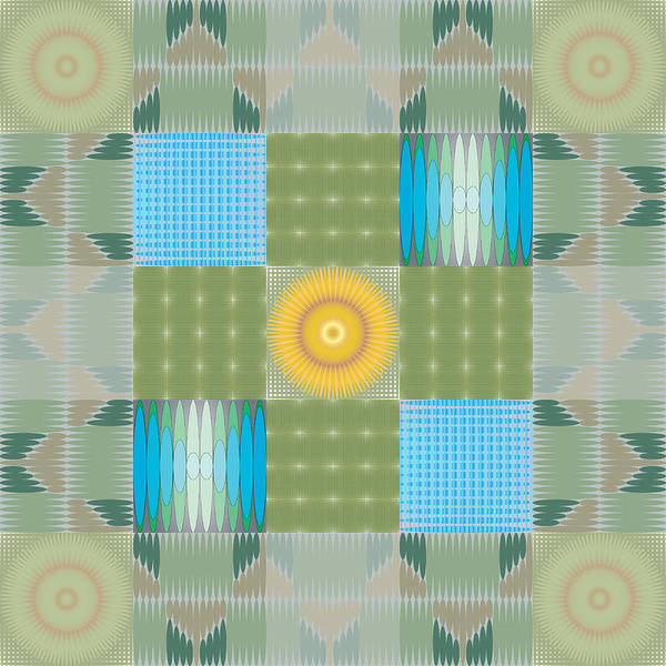 Digital Art - Ellipse Quilt 1 by Kevin McLaughlin