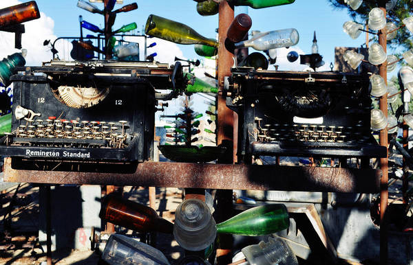 Photograph - Elmer Long's Bottle Tree Ranch Twin Typewriters by Kyle Hanson