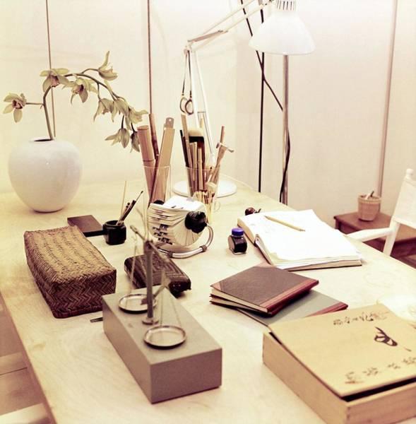 Desk Photograph - Elsa Peretti's Desk by Horst P. Horst