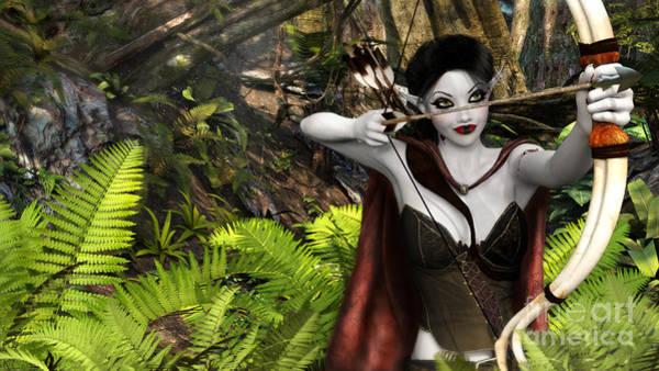 Digital Art - Elven Archer by Elle Arden Walby