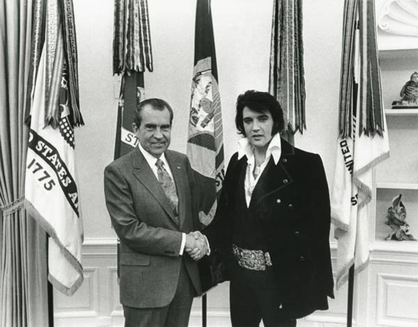 Elvis And Nixon Art Print