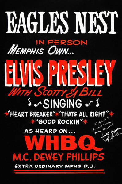 Wall Art - Photograph - Elvis At The Eagles Nest 1954 Poster by Bill Cannon