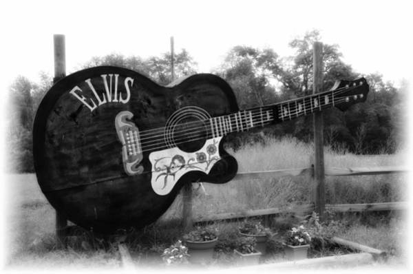 Wall Art - Photograph - Elvis Guitar In Black And White by Bill Cannon