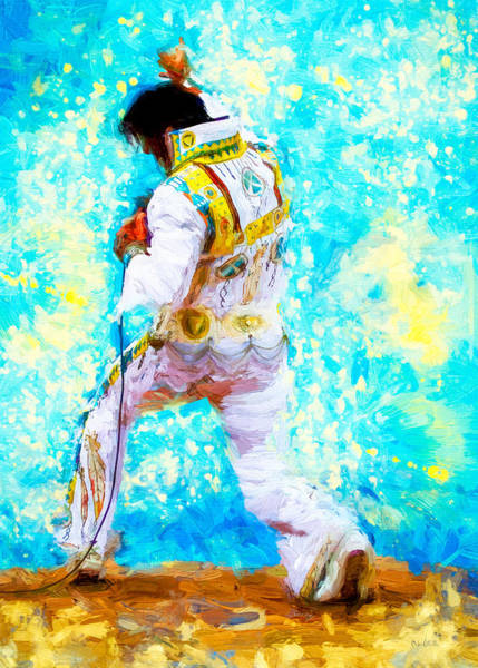 Painting - Elvis Live by Bob Orsillo
