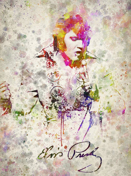 Wall Art - Drawing - Elvis Presley by Aged Pixel