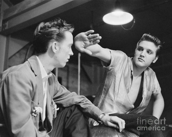 Scotty Wall Art - Photograph - Elvis Presley And Cousin Gene Smith Cropped Image by The Harrington Collection