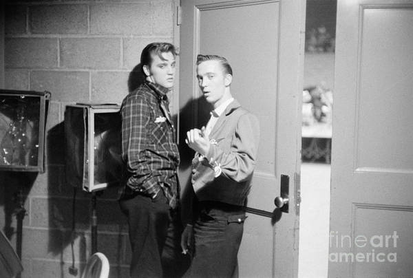 Dayton Photograph - Elvis Presley And His Cousin Gene Smith 1956 by The Harrington Collection
