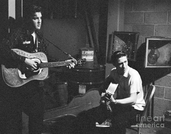 Elvis Photograph - Elvis Presley And Scotty Moore 1956 by The Harrington Collection
