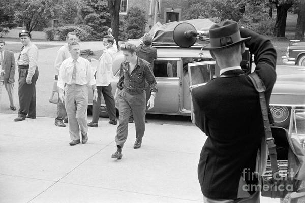 Wall Art - Photograph - Elvis Presley Arriving For A Performance In 1956 by The Harrington Collection