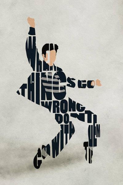 Digital Art - Elvis Presley by Inspirowl Design