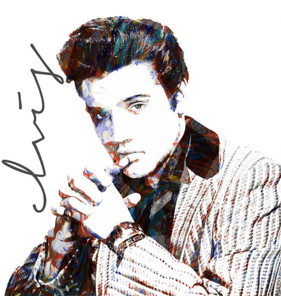 Photograph - Elvis Presley by Celestial Images