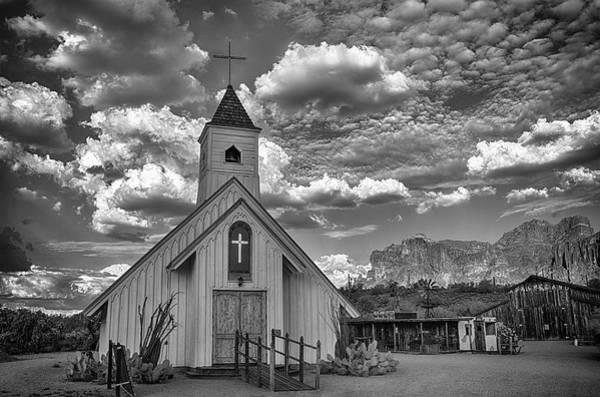 Elvis Photograph - Elvis Presley Chapel At The Superstitions by Saija  Lehtonen