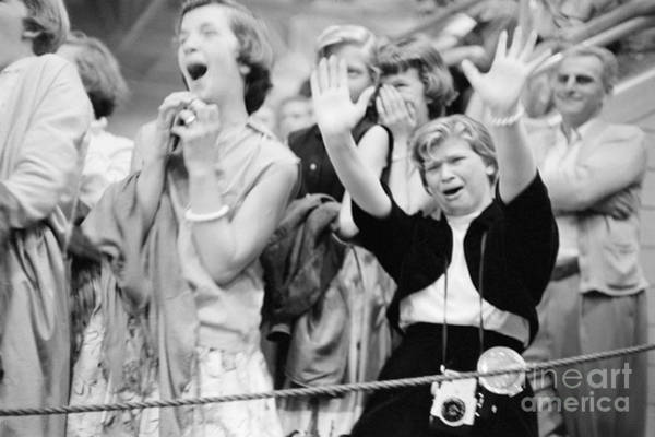 Dayton Photograph - Elvis Presley Fans Reacting To His Performance by The Harrington Collection