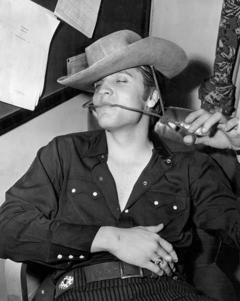 Controversy Photograph - Elvis Presley Goofing Around by Retro Images Archive