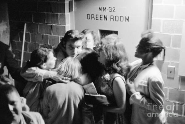 Wall Art - Photograph - Elvis Presley Hugging Fans 1956 by The Harrington Collection
