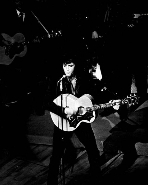 Controversy Photograph - Elvis Presley In Action On Stage by Retro Images Archive