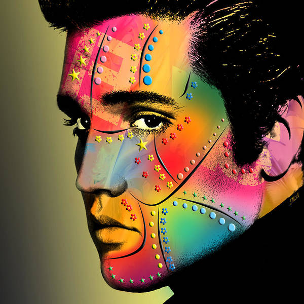 Band Digital Art - Elvis Presley by Mark Ashkenazi